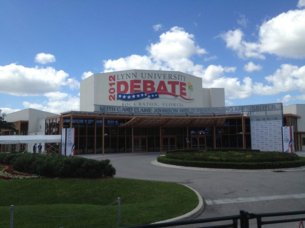 Het debat werd gehouden op Lynn University. Dat is een privé-instituut met een reputatie als pretuniversiteit.